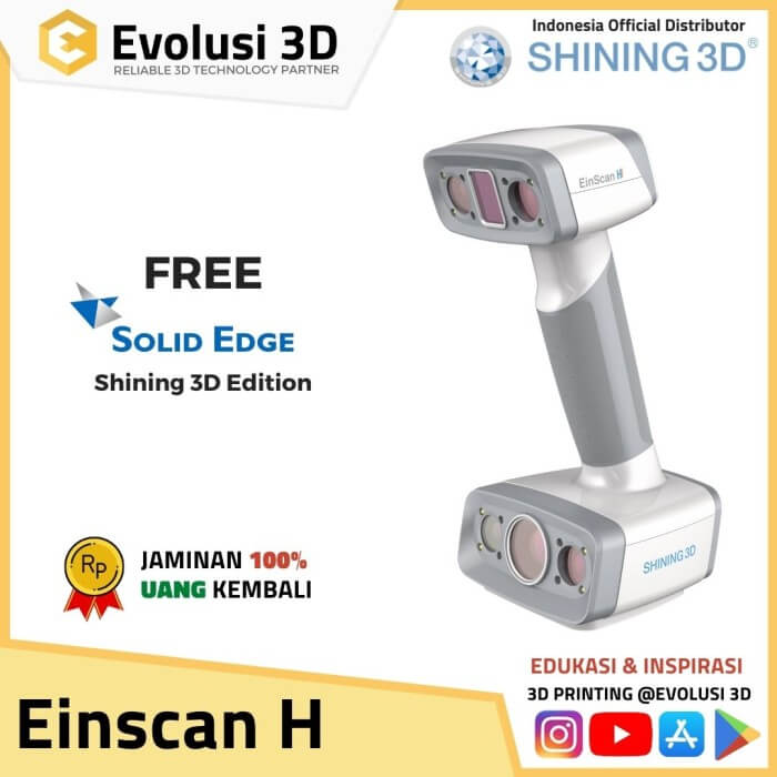 Einscan H Hybrid Infrared and structure light