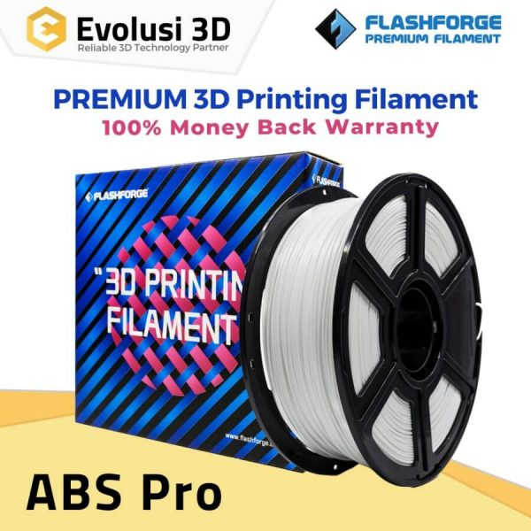 ABS Pro 1Kg 1.75mm Filament Hitam