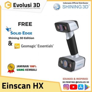 3D Scanner Einscan HX | Handheld Hybrid Blue Laser and LED Light
