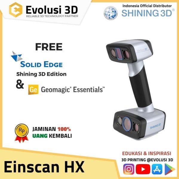 3D Scanner Einscan HX | Handheld Hybrid Blue Laser and LED Light