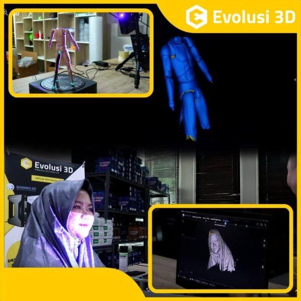 asa 3D Scan Professional dan Reverse Engineering Einscan 3D scanning