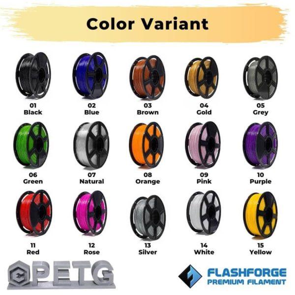 Color variant premium PETG Silver evolusi 3D