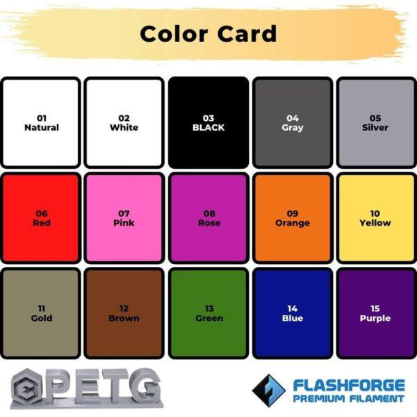 color card premium PETG Silver evolusi 3D