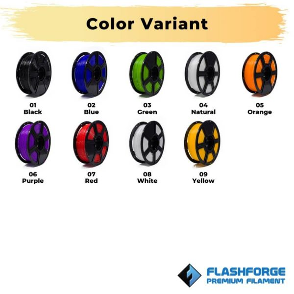 Color Variant PLA High Speed 1Kg 1.75mm Filament