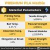 PLA Marble 1Kg 1.75mm Filament Brown