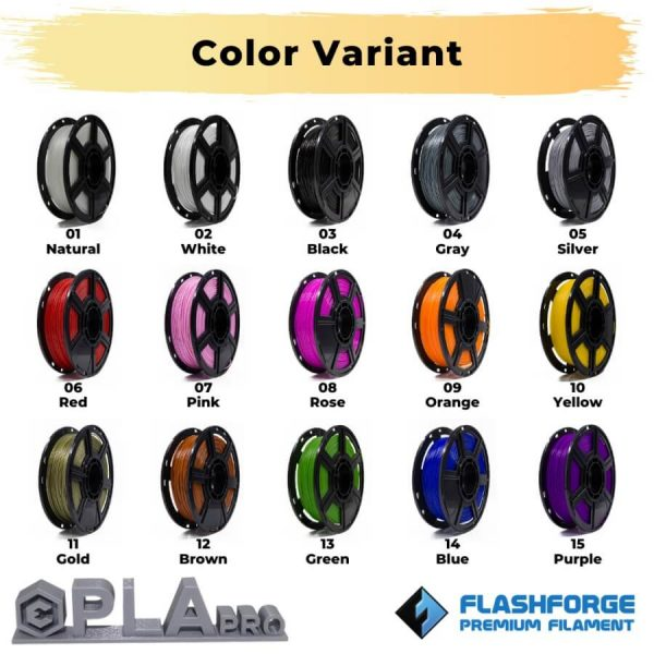 Color Variant PLA Pro Filament 1kg for any FDM