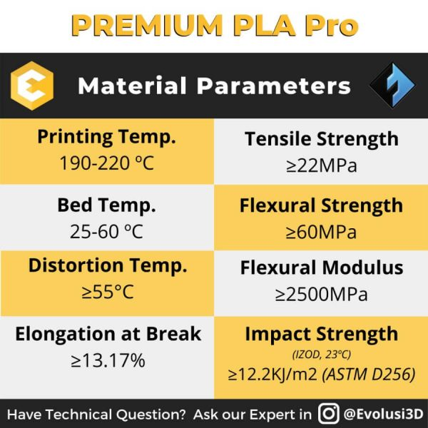 PLA Pro Filament 1kg for any FDM