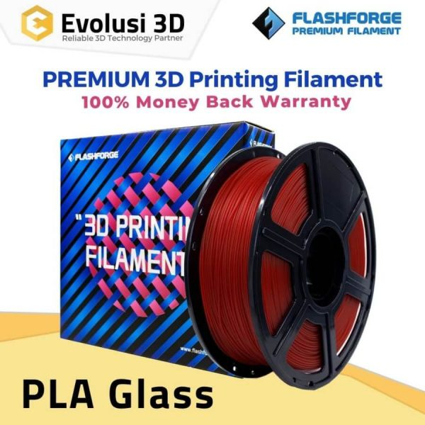 PLA Transparent 1Kg 1.75mm Glass Red