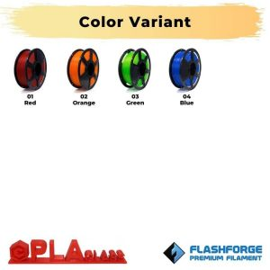 Color Variant PLA Transparent 1Kg 1.75mm Glass