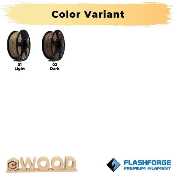 Color Variant PLA Wood 1Kg 1.75mm Filament