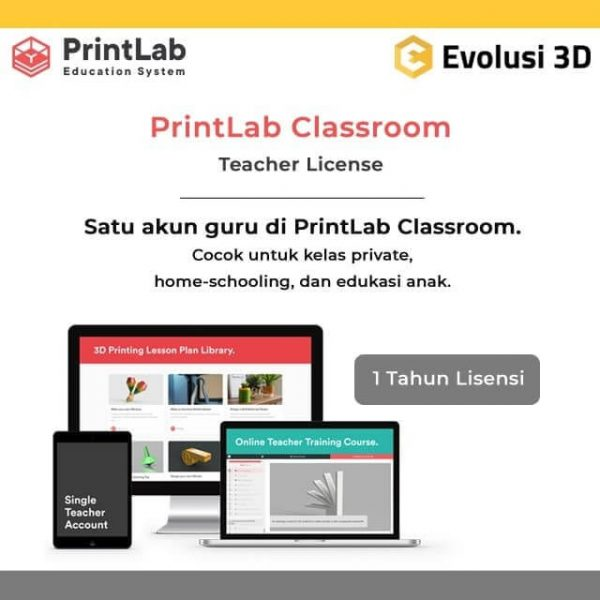 PrintLab 3D Kurikulum Lisensi Guru