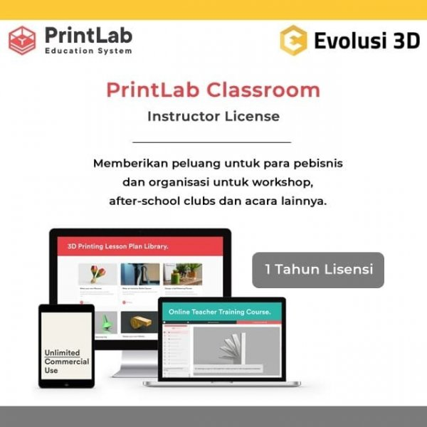 PrintLab 3D Classroom Instructour License