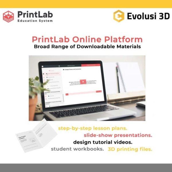PrintLab Online Platform Broad Range of Downloadble Materials