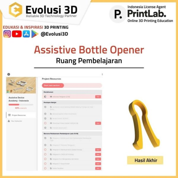 Assitive bottle opener printlab educate package evousi 3d