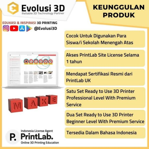 Keunggulan printlab innovate package evousi 3d