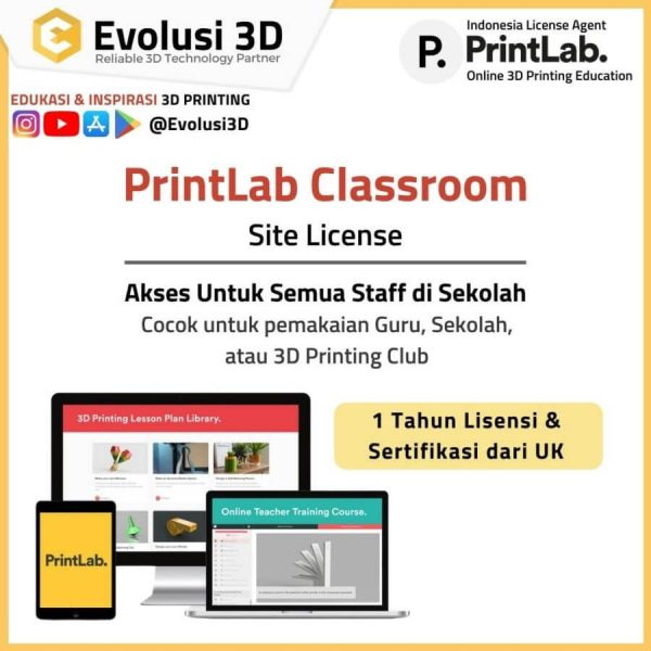 Site License printlab innovate package evousi 3d