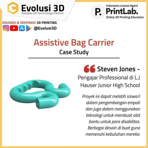 Assitive bag carrrier printlab innovate package evousi 3d